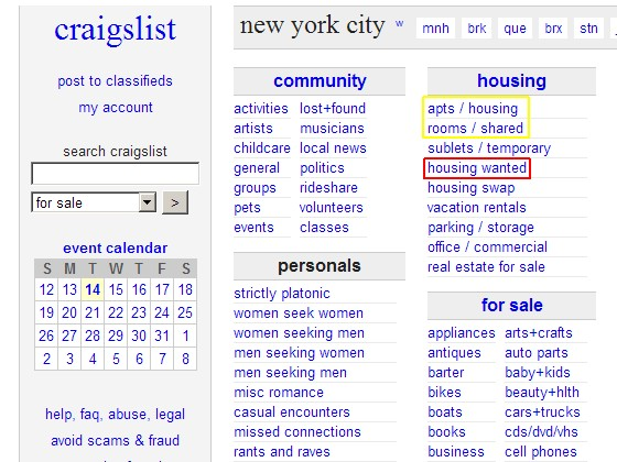 Finding Tenants On Craigslist