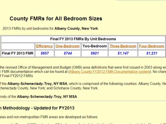 HUD Fair Market Rents Example