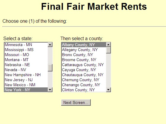 HUD Fair Market Rents