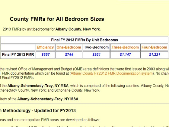 HUD Fair Market Rents Example